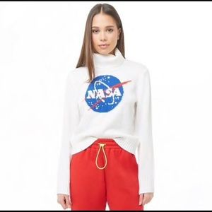 Sweaters - Forever 21 NASA Graphic Turtleneck Sweater